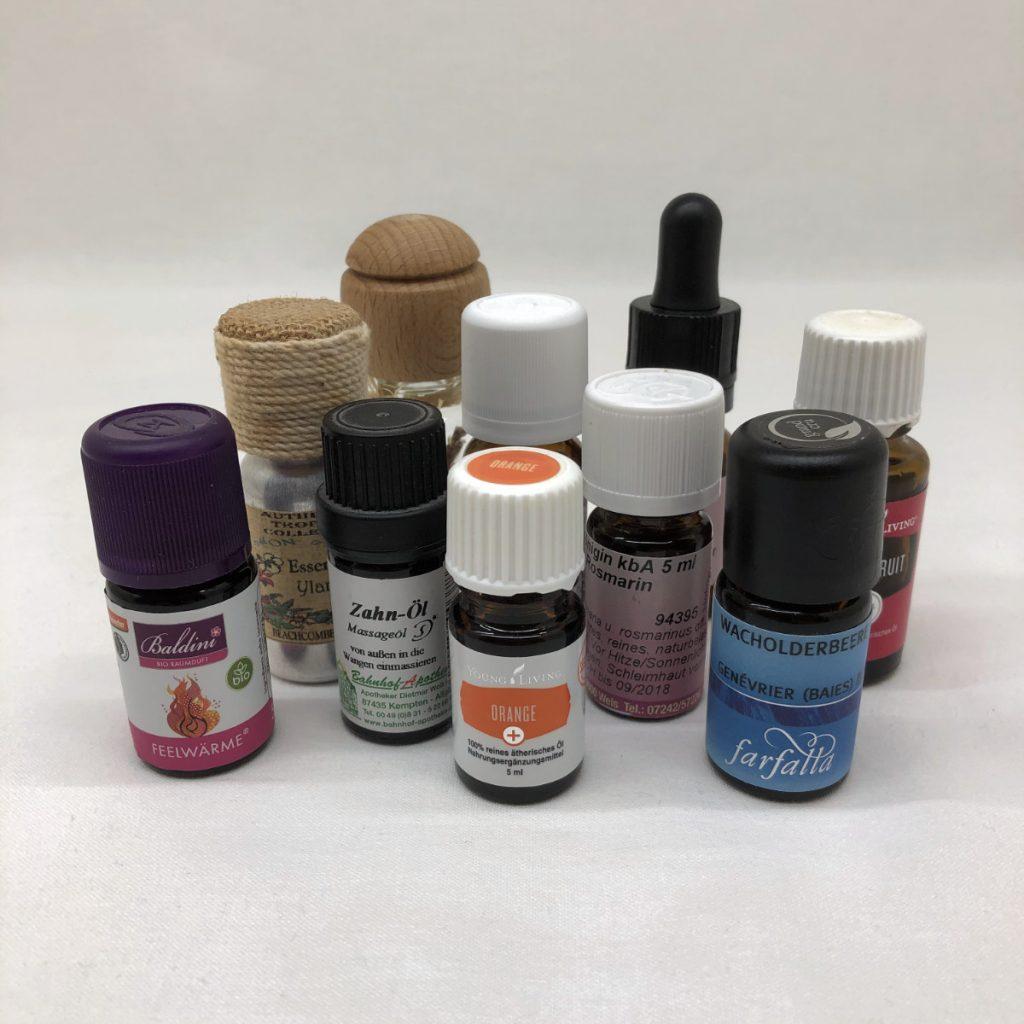 Ölflaschen verschiedener Hersteller und Unterschieden in Qualität und Bezug