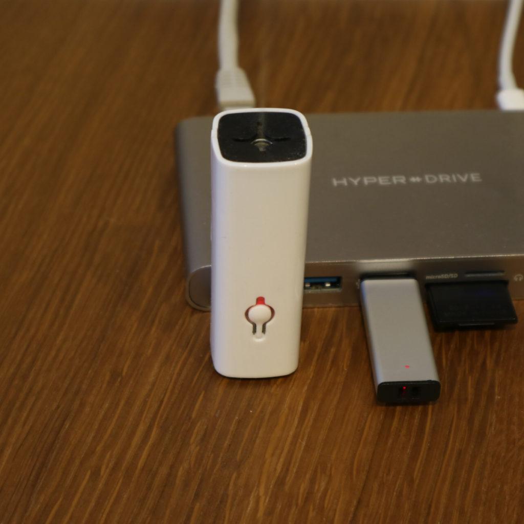 USB-Diffusor, eingesteckt